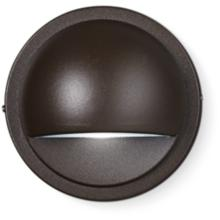 "Kichler 4"" High Half Moon Bronze 3000K LED Deck Light"