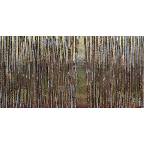 "Blue Birch Forest II Giclee 48"" Wide Canvas Wall Art"