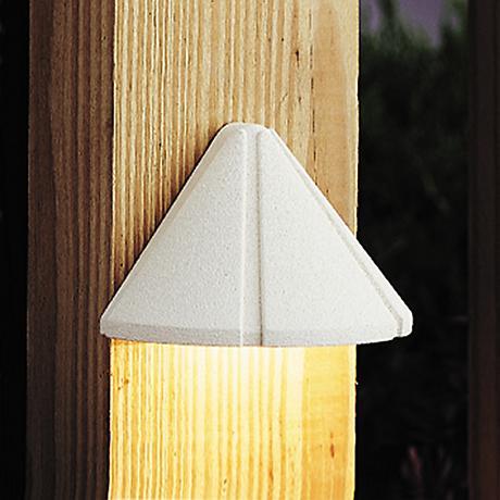 "Kichler Landscape 3 3/4""W 270K LED White Deck Light"