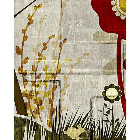 """Garden Mural 2 Giclee 20"""" High Canvas Wall Art"""