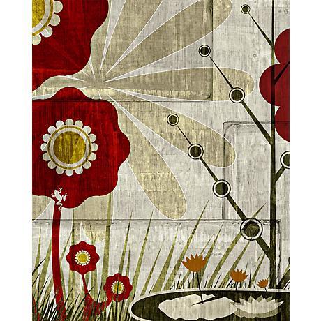 """Garden Mural 3 Giclee 20"""" High Canvas Wall Art"""