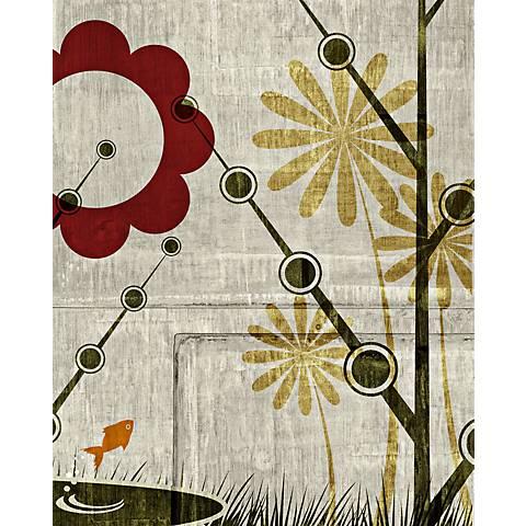 """Garden Mural 4 Giclee 20"""" High Canvas Wall Art"""