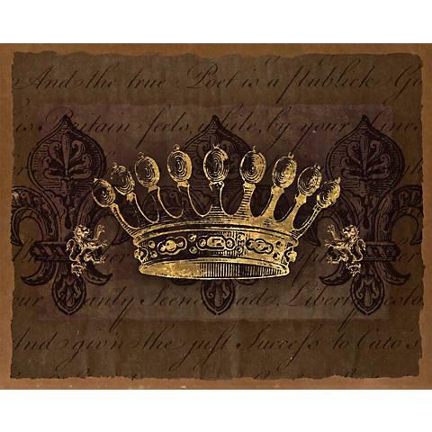 "Dark Crowns 1 Giclee 20"" High Canvas Wall Art"