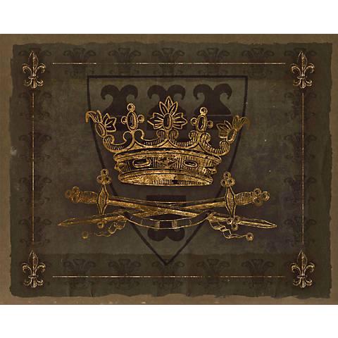 "Dark Crowns 2 Giclee 20"" High Canvas Wall Art"
