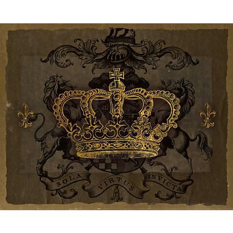 "Dark Crowns 3 Giclee 20"" High Canvas Wall Art"