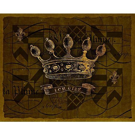"Dark Crowns 4 Giclee 20"" High Canvas Wall Art"