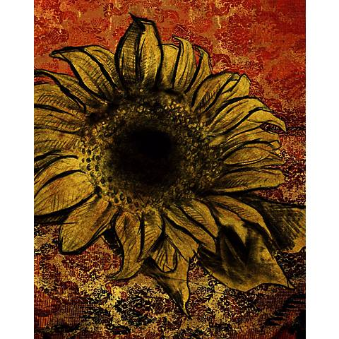 "Sunflower III Giclee 14"" High Canvas Wall Art"