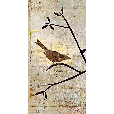 """Perched Trio One Giclee 36"""" High Canvas Wall Art"""