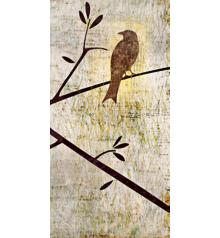 """Perched Trio Two Giclee 36"""" High Canvas Wall Art"""