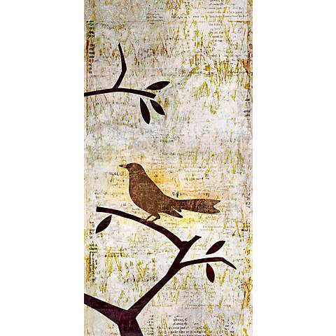 "Perched Trio Three Giclee 36"" High Canvas Wall Art"