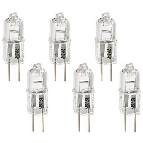 Tesler Clear 10 Watt 12 Volt G4 Bi-Pin Halogen Bulb 6-Pack