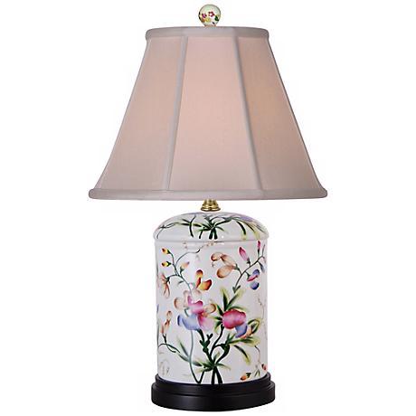 Floral Jar Porcelain Table Lamp