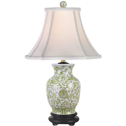 Lemon Green Porcelain Vase Table Lamp