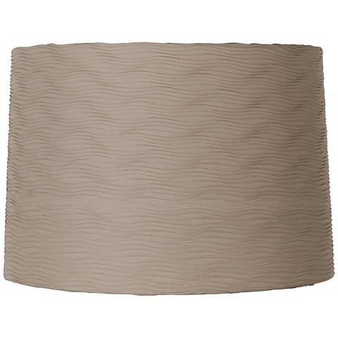 Taupe Horizontal Wave Pleat Shade 15x16x11 (Spider)