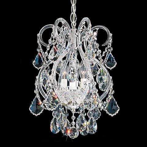 "Schonbek Olde World 11""W Silver Spectra Crystal Mini Pendant"