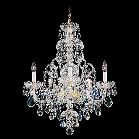 """Schonbek Olde World Collection 22"""" Wide Crystal Chandelier"""