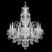 "Schonbek Olde World Collection 25"" Wide Crystal Chandelier"