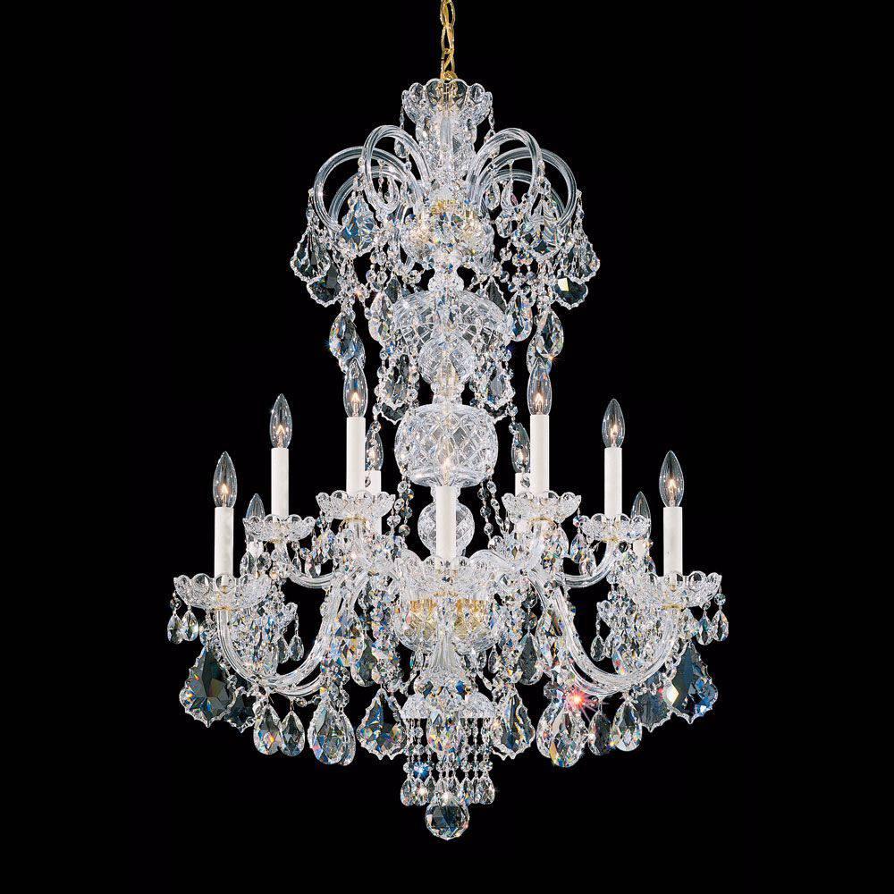 Milano 12 Quot Wide Midnight Swarovski Crystal Mini Chandelier