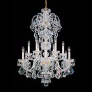 "Schonbek Olde World 30""W Gold Swarovski Crystal Chandelier"