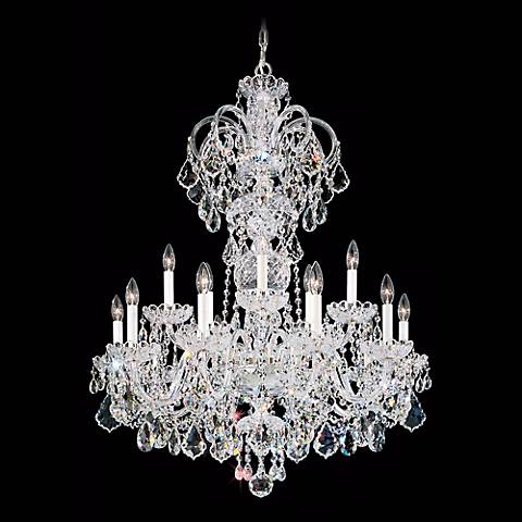 "Schonbek Olde World 32""W Gold Swarovski Crystal Chandelier"