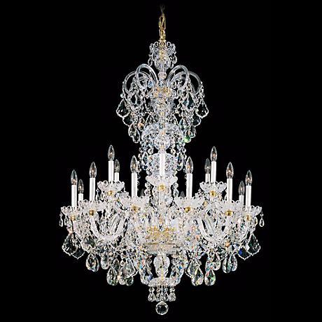 """Schonbek Olde World Collection 36"""" Wide Crystal Chandelier"""