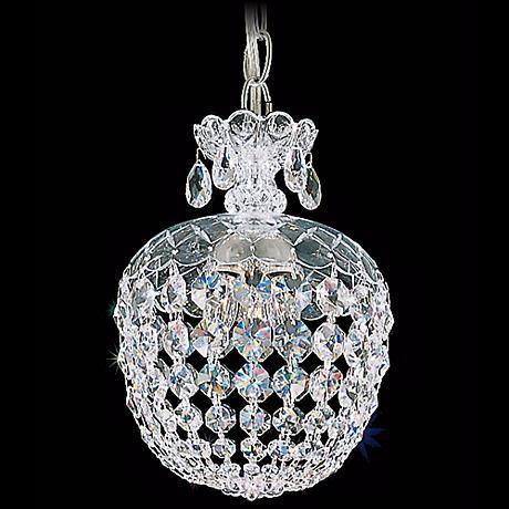 "Schonbek Olde World Collection 8"" Crystal Mini Pendant Light"