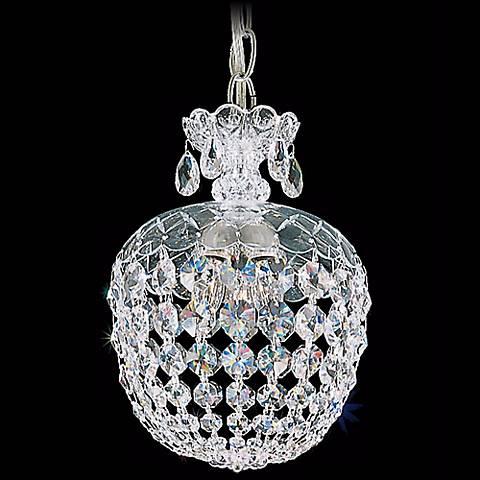 "Schonbek Olde World 8"" Swarovski Crystal Mini Pendant Light"