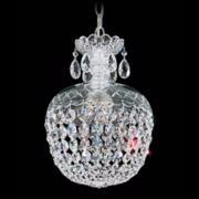 "Schonbek Olde World Collection 10"" Wide Crystal Mini Pendant"