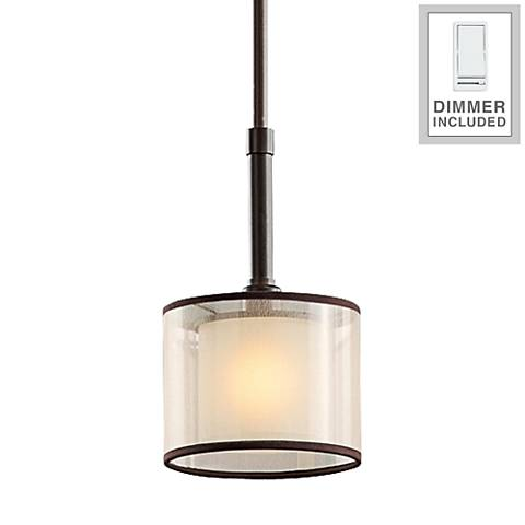 """Lacey 6"""" Wide Double Shade Mini Pendant with Dimmer"""