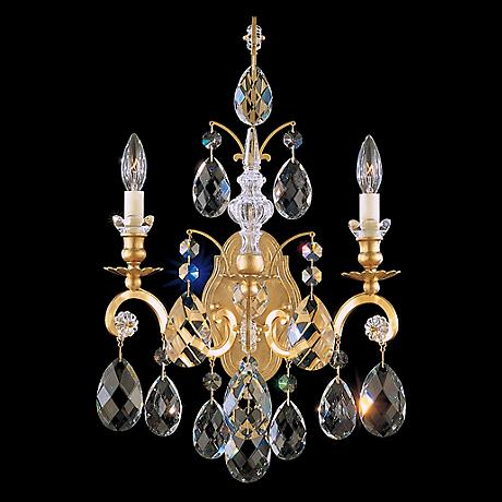"Schonbek Renaissance Collection 22 1/2"" High Crystal Sconce"