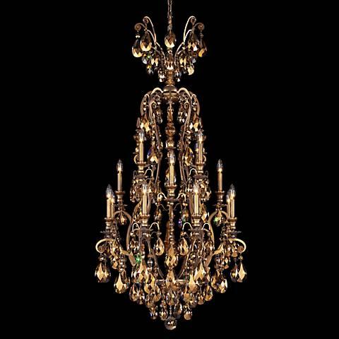 "Schonbek Renaissance 28""W Teak Crystal Chandelier in Gold"