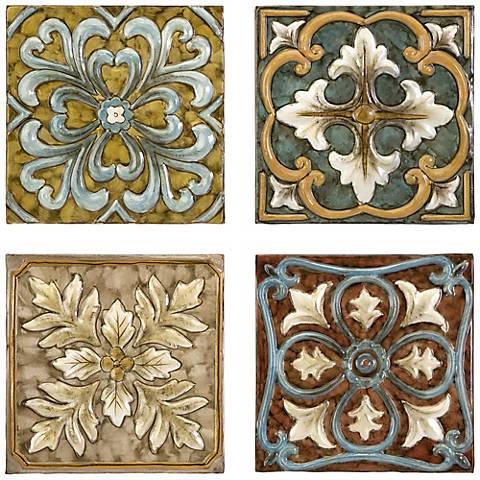 Set of 4 Casa Medallion Tiles