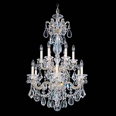 "Schonbek La Scala Collection 25"" 2-Tier Crystal Chandelier"