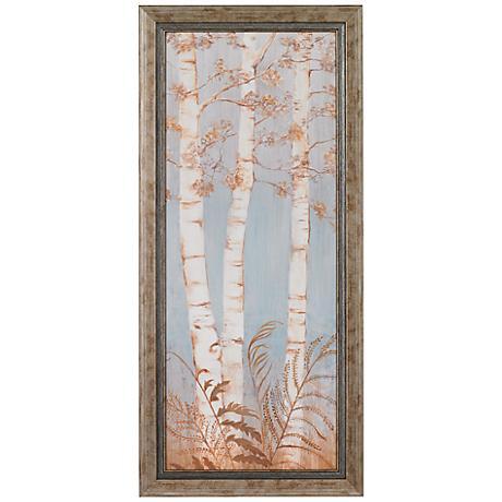"""Birch Woods Framed 33 1/4"""" High Wall Art"""