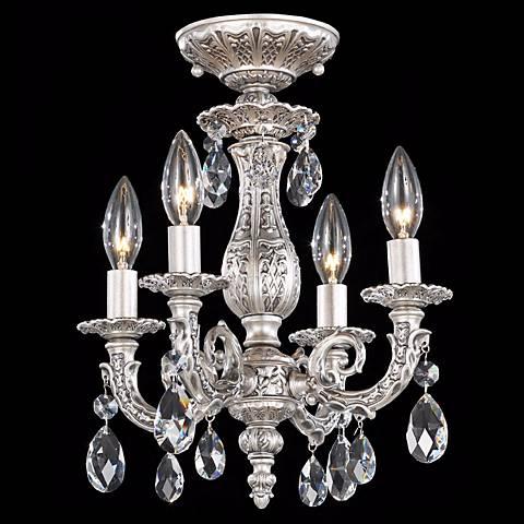 "Schonbek Milano 11 1/2""W Roman Silver Crystal Ceiling Light"