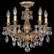 "Schonbek Milano 16 1/2"" Wide Swarovski Crystal Ceiling Light"