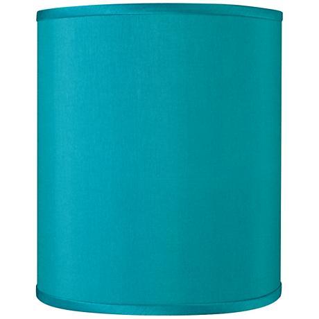 Teal Blue Faux Silk Shade 10x10x12 (Spider)