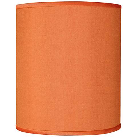 Orange Faux Silk Shade 10x10x12 (Spider)