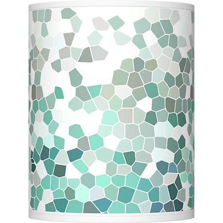 Aqua Mosaic Giclee Shade 10x10x12 (Spider)