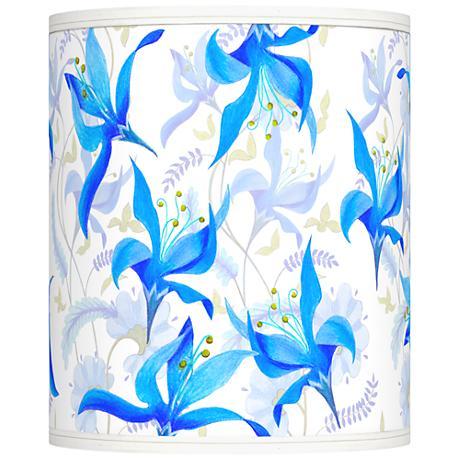 Flora Bleu Giclee Shade 10x10x12 (Spider)