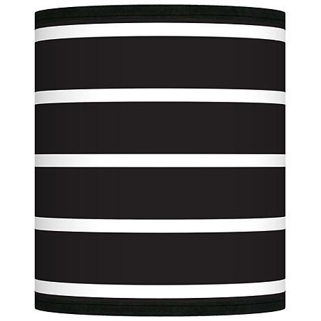 Bold Black Stripe Giclee Shade 10x10x12 (Spider)