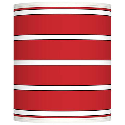 Bold Red Stripe Giclee Shade 10x10x12 (Spider)