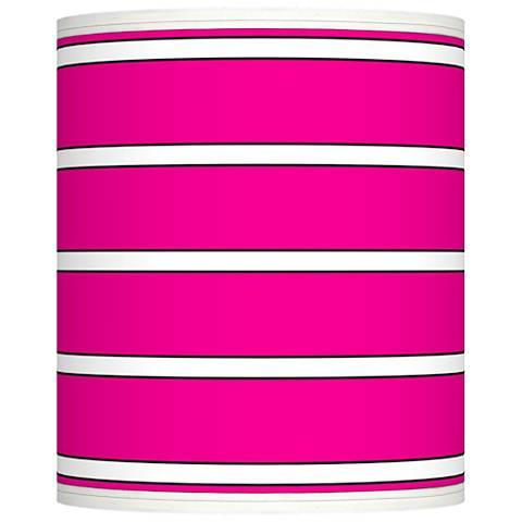 Bold Pink Stripe Giclee Shade 10x10x12 (Spider)
