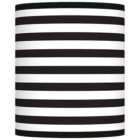 Black Horizontal Stripe Giclee Shade 10x10x12 (Spider)