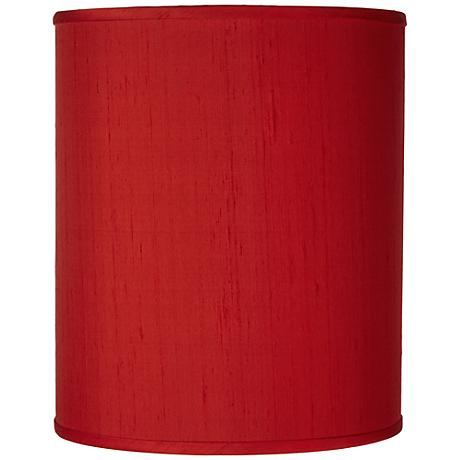 China Red Textured Silk Shade 10x10x12 (Spider)