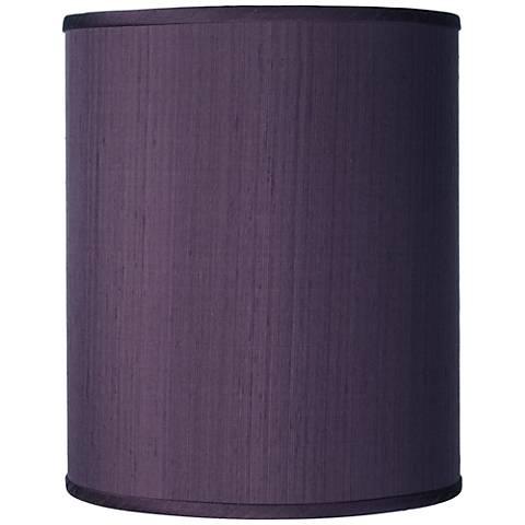 Eggplant Faux Silk Silk Drum Shade 10x10x12 (Spider)