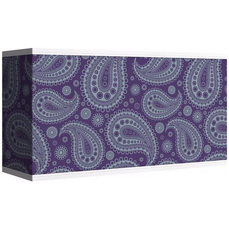 Purple Paisley Linen Giclee Shade 8/17x8/17x10 (Spider)