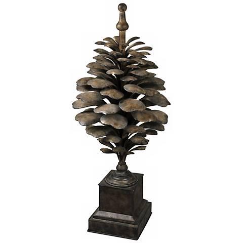 Uttermost Suzuha Large Decorative Pine Cone Finial