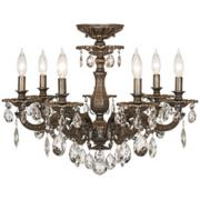 "Schonbek Milano 24""W Midnight Spectra Crystal Ceiling Lighht"