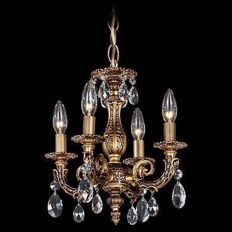 "Milano 12"" Wide Midnight Spectra Crystal Mini Chandelier"